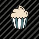 cake, cupcake, pastry, vanilla icon