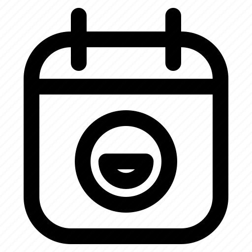 Calendar, date, deadline, event, plan, schedule, smile icon - Download on Iconfinder