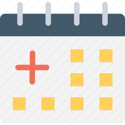 calendar, organization, time and date icon