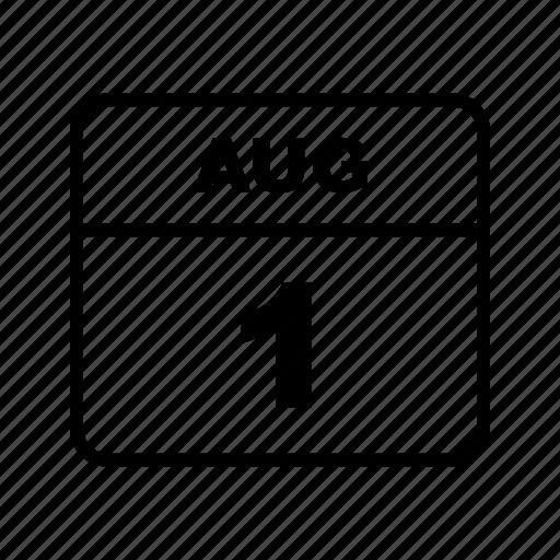 aug, calendar, month, schedule icon
