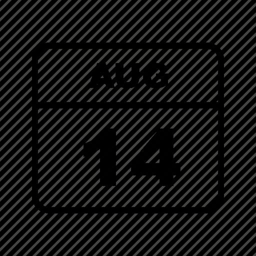 aug, calendar, month icon