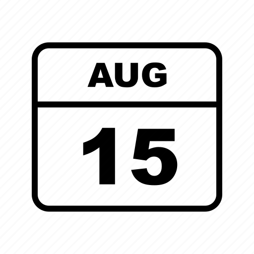 aug, calendar, schedule icon