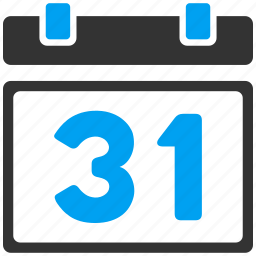 31 date, agenda, appointment, calendar, last day, month, schedule icon