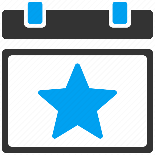 award, calendar day, event, favourite, holiday, schedule, star icon