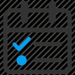appointment, calendar page, day, plan, schedule, tasklist, tasks icon