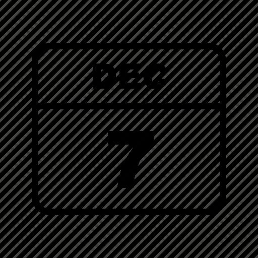 calendar, dec, month, schedule icon