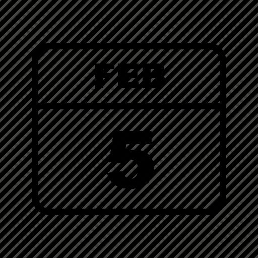 calendar, feb, month, schedule icon