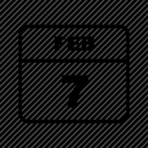 calendar, feb, schedule icon