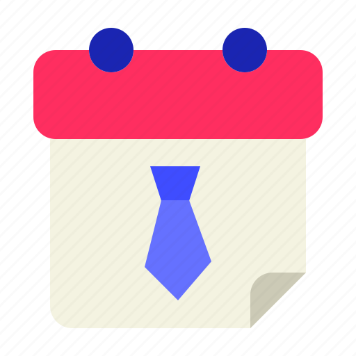 calendar, date, month, tie, time, work icon