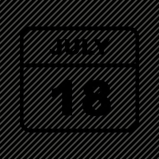 calendar, july, month, schedule icon