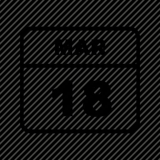 calendar, mar, month icon
