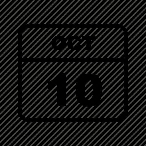 calendar, month, oct, schedule icon