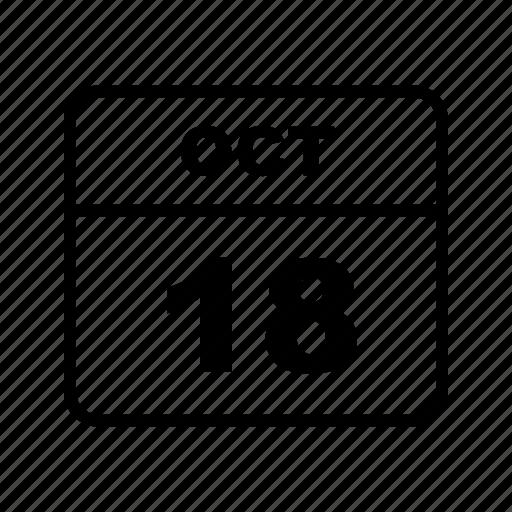 calendar, oct, schedule icon