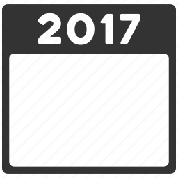 calendar leaf, calendar page, diary, plan, poster, schedule, year 2017 icon
