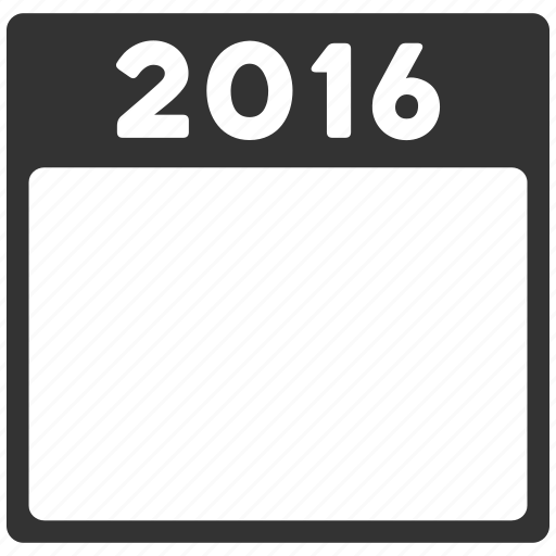 calendar leaf, calendar page, diary, plan, poster, schedule, year 2016 icon