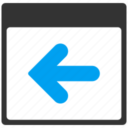 arrow, back, before, day, history, move left, previous icon