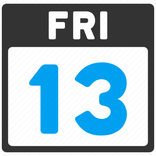 13 friday, 13th day, appointment, calendar, date, poster, thirteen icon
