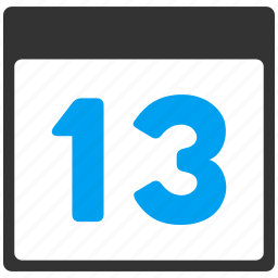 13th day, appointment, calendar, date, poster, thirteen, thirteenth icon