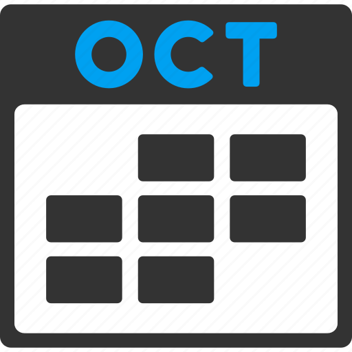 calendar, grid, month, october, plan, schedule, time table icon