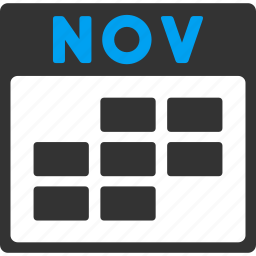 calendar, grid, month, november, plan, schedule, time table icon