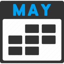 calendar, grid, may, month, plan, schedule, time table icon