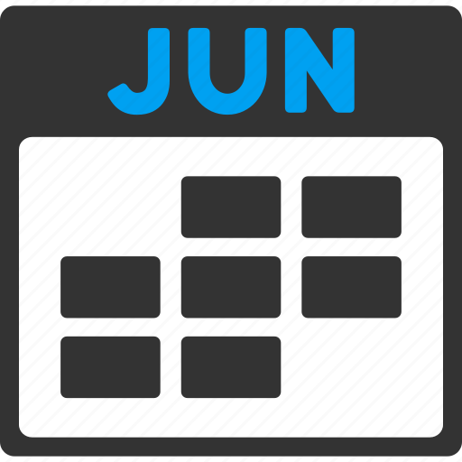 calendar, grid, june, month, plan, schedule, time table icon