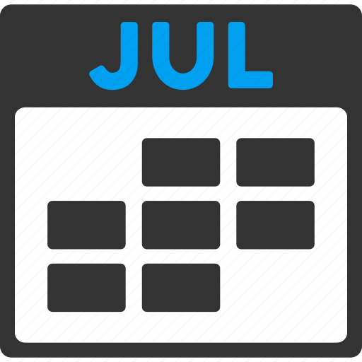 calendar, grid, july, month, plan, schedule, time table icon