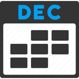 appointment, calendar, december, grid, month, schedule, time table icon