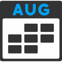 appointment, august, calendar, grid, month, plan, schedule icon