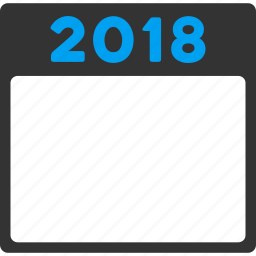 2018, appointment, calendar page, diary, poster leaf, schedule, year calendar icon