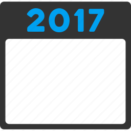2017 year, appointment, calendar page, diary, leaf, poster, schedule icon