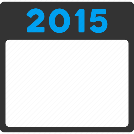 appointment, calendar, diary, page, poster, schedule, year 2015 icon