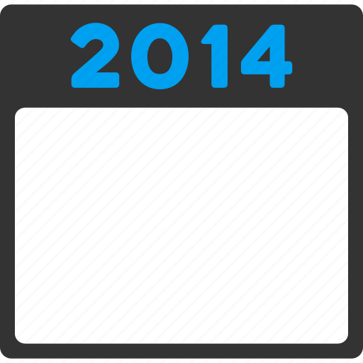appointment, calendar, diary, page, poster, schedule, year 2014 icon