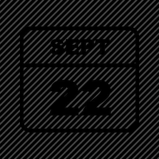 calendar, month, schedule, sept icon