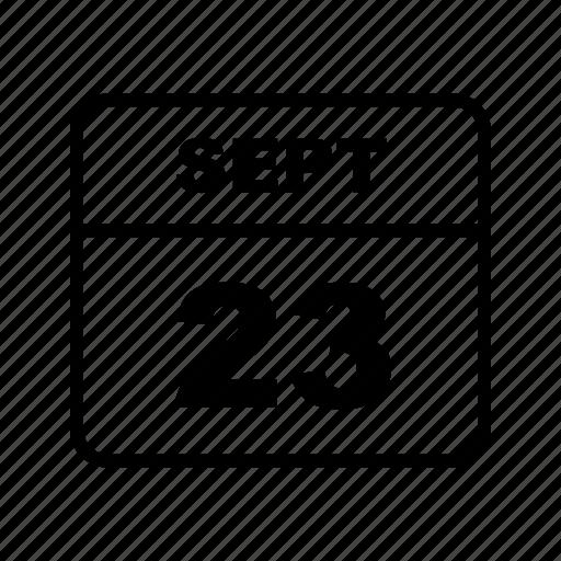 calendar, schedule, sept icon