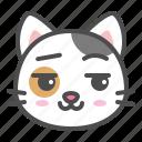 avatar, calico, cat, cute, face, kitten, smirk
