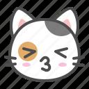 avatar, calico, cat, cute, face, kiss, kitten