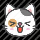 avatar, calico, cat, cute, face, kitten, smile