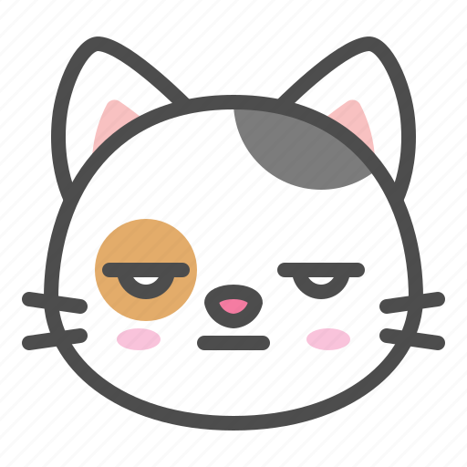 Avatar Bored Calico Cat Cute Face Kitten Icon
