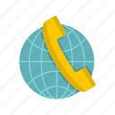 call, communication, contact, globe, handset, phone, telephone