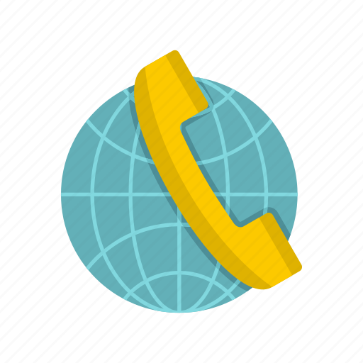 call, communication, contact, globe, handset, phone, telephone icon