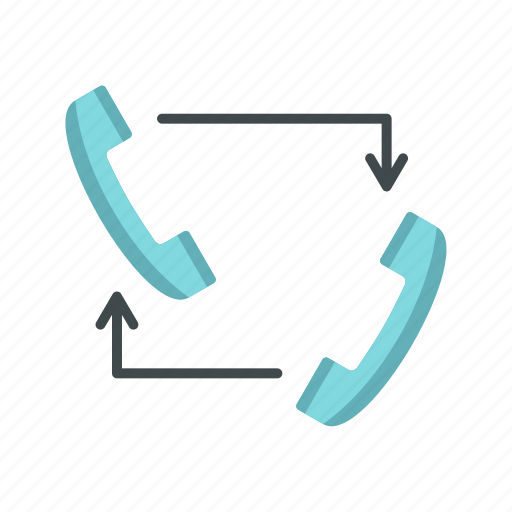 arrow, business, communication, connection, contact, handset, phone icon