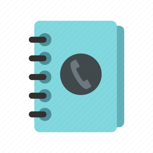 Address, book, diary, handset, note, notebook, page icon - Download on Iconfinder