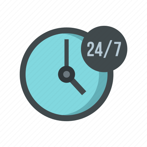 assistance, clock, customer, hour, service, support, time icon