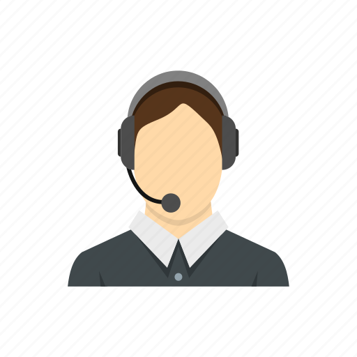 customer, headset, male, man, operator, service, telephone icon