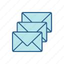 call, center, e-mail, letter, line, online, thin icon
