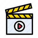 board, clapper, film, making, video