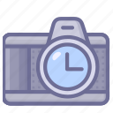 camera, shotting, time icon