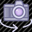 camera, lens, shotting icon