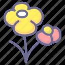 flower, scene, shotting icon